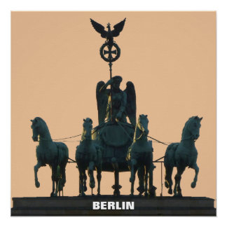BERLIN Quadriga at Brandenburg Gate 1.2 Perfect Poster