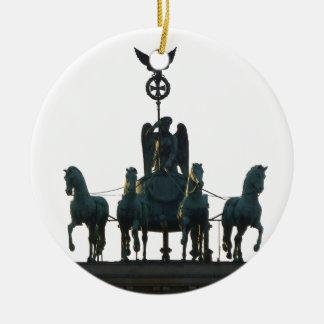 BERLIN Quadriga at Brandenburg Gate Ceramic Ornament