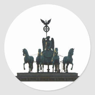 BERLIN Quadriga at Brandenburg Gate Classic Round Sticker