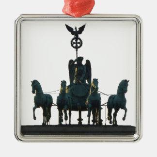 BERLIN Quadriga at Brandenburg Gate Metal Ornament