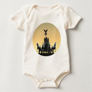 Berlin Quadriga Brandenburg Gate 002.1 rd Baby Bodysuit