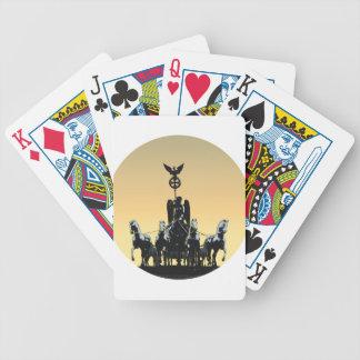 Berlin Quadriga Brandenburg Gate 002.1 rd Bicycle Playing Cards