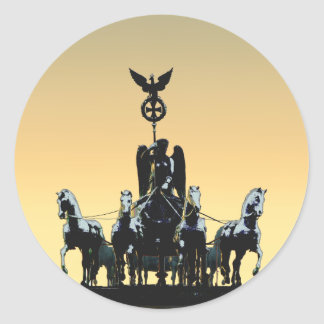Berlin Quadriga Brandenburg Gate 002.1 rd Classic Round Sticker