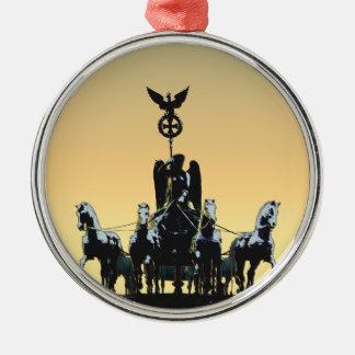Berlin Quadriga Brandenburg Gate 002.1 rd Metal Ornament