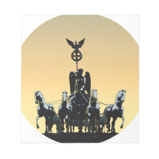 Berlin Quadriga Brandenburg Gate 002.1 rd Notepad