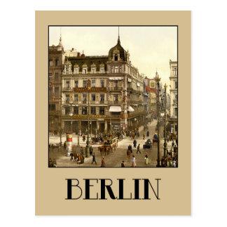 Berlin retro antique Unter den Linden color Postcard