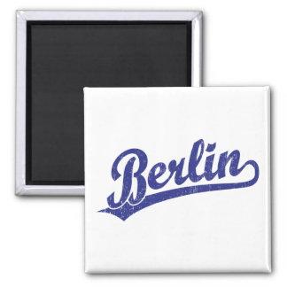 Berlin script logo in blue magnet