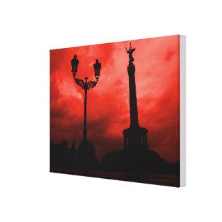 Berlin Sky on Fire Canvas Print