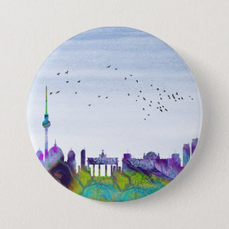 Berlin Skyline 3 Inch Round Button