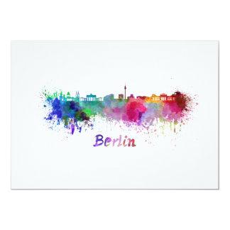 Berlin skyline in watercolor card