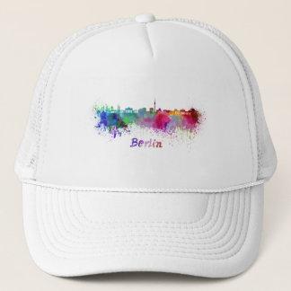 Berlin skyline in watercolor trucker hat
