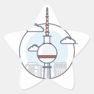 Berlin Star Sticker