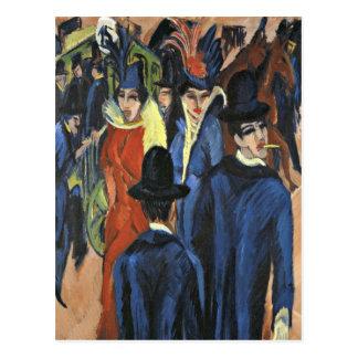 Berlin Street Scene - Ernst Ludwig Kirchner Postcard