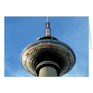 berlin Televison Tower aim to sky Card