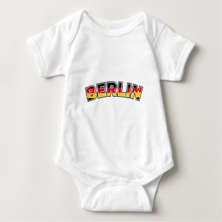Berlin, text with Germany flag colors Baby Bodysuit