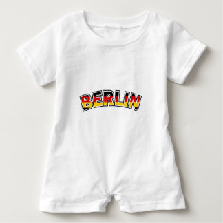Berlin, text with Germany flag colors Baby Romper
