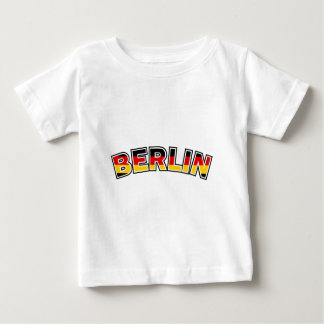 Berlin, text with Germany flag colors Baby T-Shirt