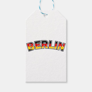 Berlin, text with Germany flag colors Gift Tags