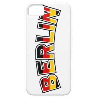 Berlin, text with Germany flag colors iPhone 5 Case