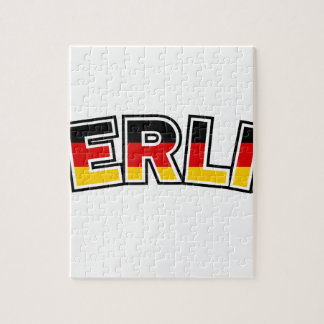 Berlin, text with Germany flag colors Jigsaw Puzzle