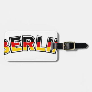Berlin, text with Germany flag colors Luggage Tag