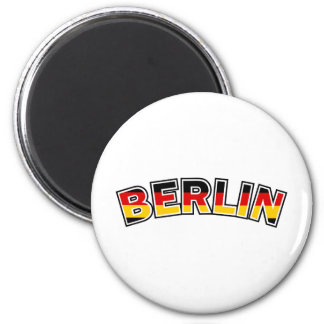Berlin, text with Germany flag colors Magnet