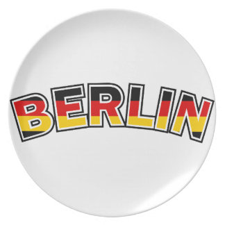 Berlin, text with Germany flag colors Plate