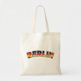 Berlin, text with Germany flag colors Tote Bag