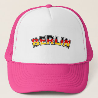 Berlin, text with Germany flag colors Trucker Hat