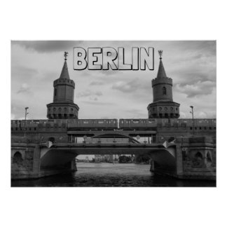 BERLIN, The Oberbaum Bridge 001.04.F. Poster