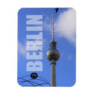 "BERLIN TV Tower with Detail of ""World Time Clock"" Magnet"