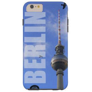 """BERLIN TV Tower with detail OF """"World time Clock """" Tough iPhone 6 Plus Case"""