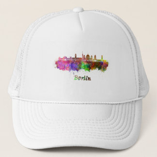 Berlin V2 skyline in watercolor Trucker Hat