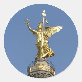 Berlin, Victory-Column 002.01 Classic Round Sticker