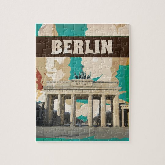 Berlin Vintage Travel Poster Jigsaw Puzzle