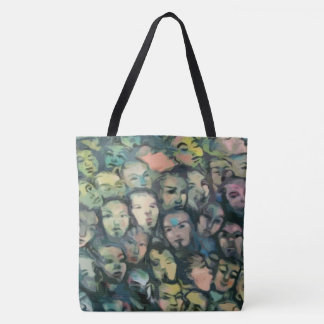 Berlin Wall Faces Tote Bag