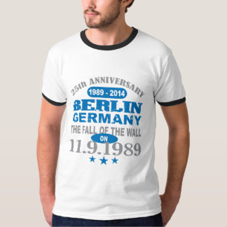 Berlin Wall Germany 25 Year Anniversary T-Shirt