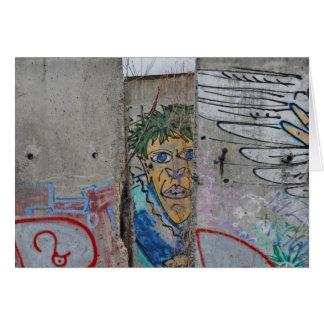 Berlin Wall graffiti art Card