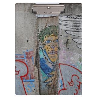 Berlin Wall graffiti art Clipboards