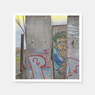 Berlin Wall graffiti art Disposable Napkins