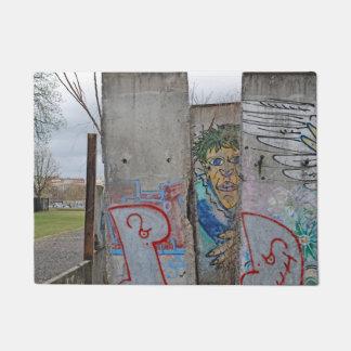 Berlin Wall graffiti art Doormat