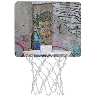 Berlin Wall graffiti art Mini Basketball Hoop