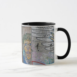 Berlin Wall graffiti art Mug