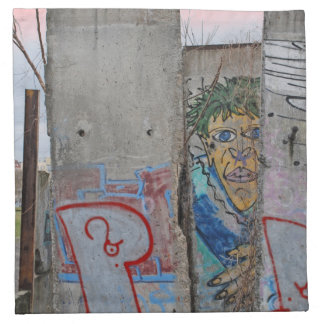 Berlin Wall graffiti art Napkin