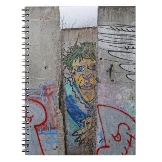 Berlin Wall graffiti art Note Books