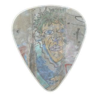 Berlin Wall graffiti art Pearl Celluloid Guitar Pick