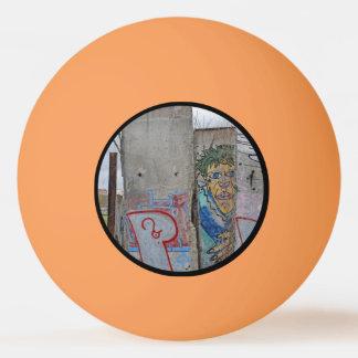 Berlin Wall graffiti art Ping Pong Ball