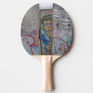 Berlin Wall graffiti art Ping Pong Paddle