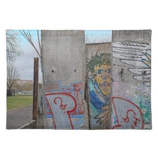 Berlin Wall graffiti art Place Mats