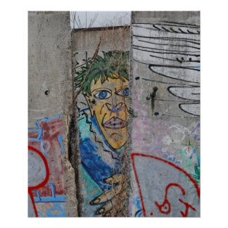 Berlin Wall graffiti art Poster